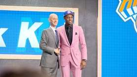 The Knicks selected Duke's RJ Barrett with the No.
