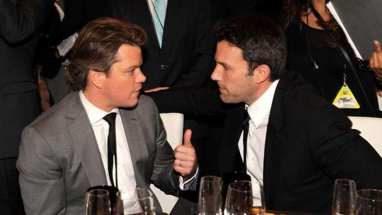 Matt Damon and Ben Affleck attends the 16th