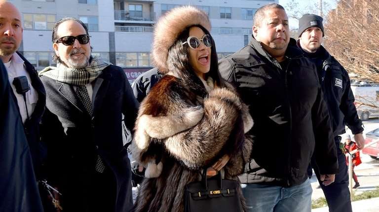 Cardi B arrives at Queens County Criminal Court