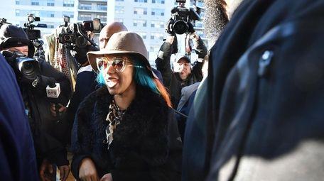 Cardi B arrives for her arraignment for assault