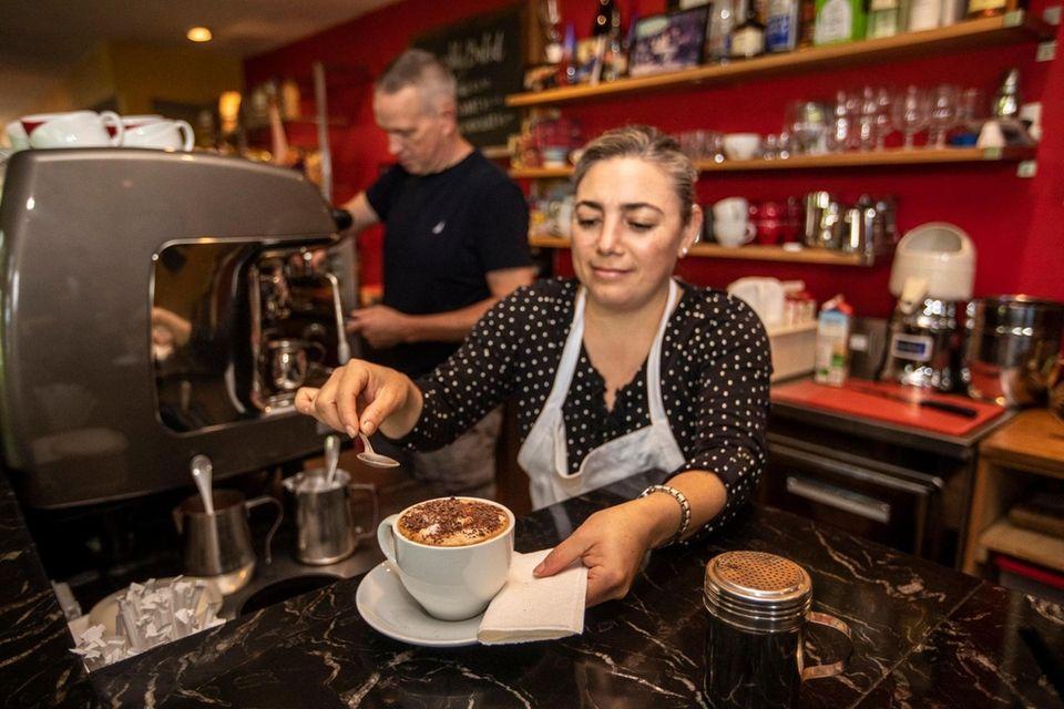 Lily Alvarez, a barista at Aldo's Coffee Co.