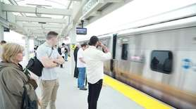 Long Island Rail Road passengers, mostly at the
