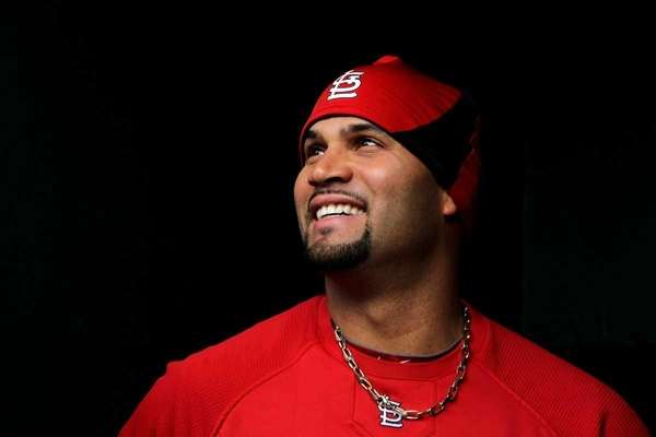 Albert Pujols of the St. Louis Cardinals stands