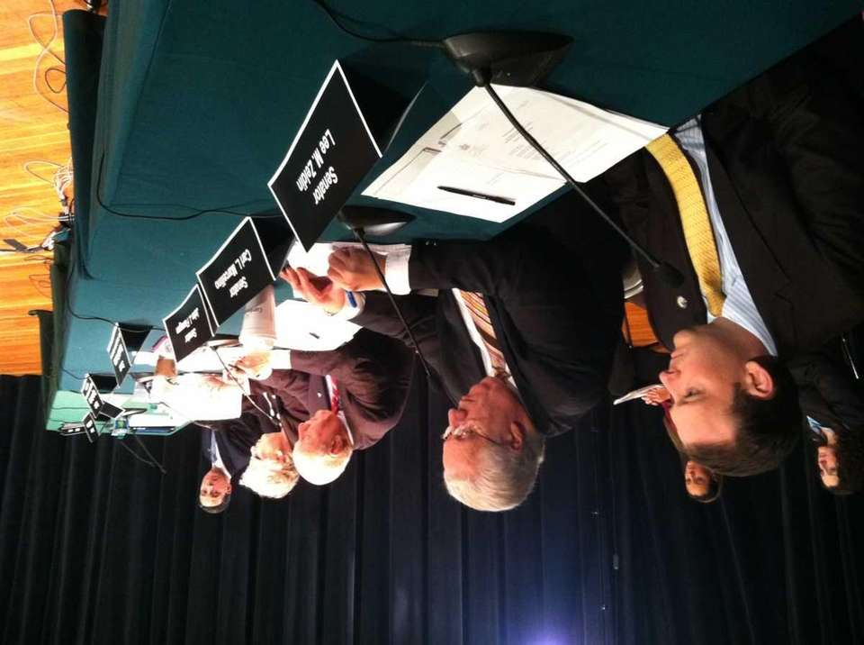 At Farmingdale State College, a committee discusses the