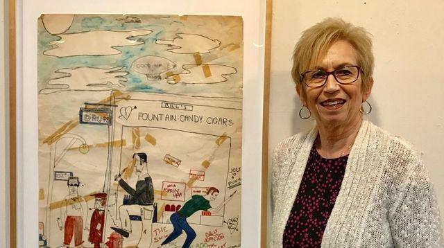 A teacher and a work of art she
