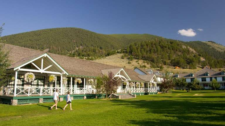 Chico Hot Springs resort features geothermic pools in