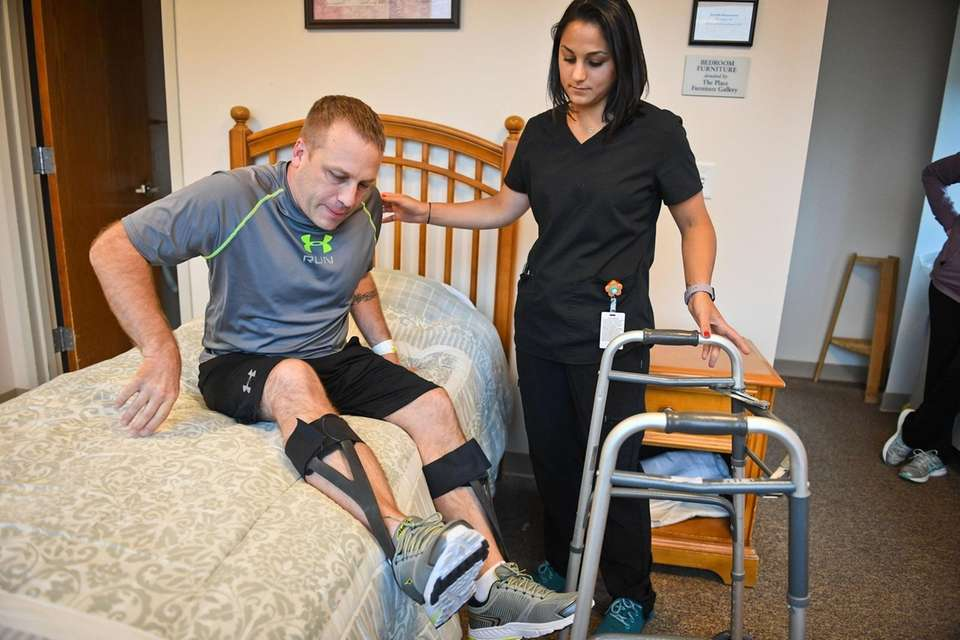 Dennis Lippl, of Holtsville, recovering from guillain barre