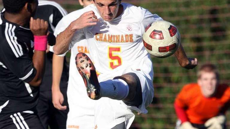 Chaminade's Andrea Torto moves ball upfield in CHSAA