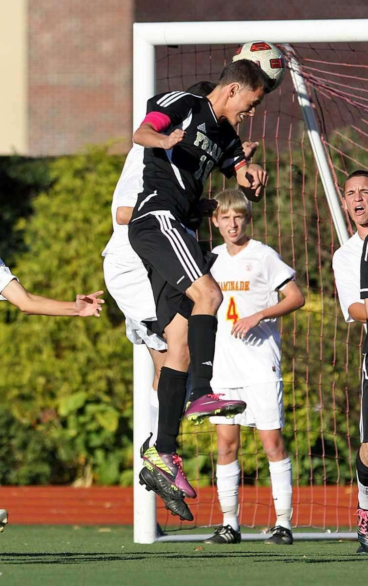 Beautiful header for a goal by St. Anthony's