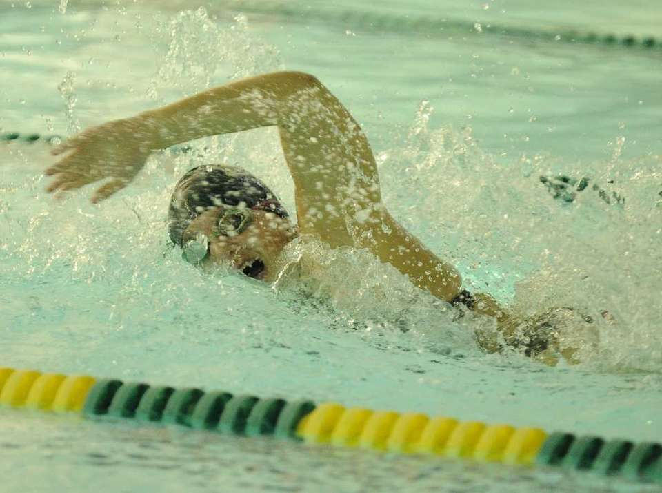 Ward Melville's Alexandra Donnelly swims the second leg