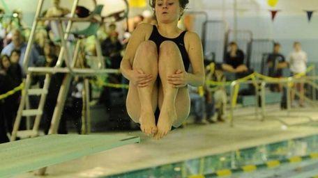 Ward Melville's Alison Sagliocca won the 1 meter