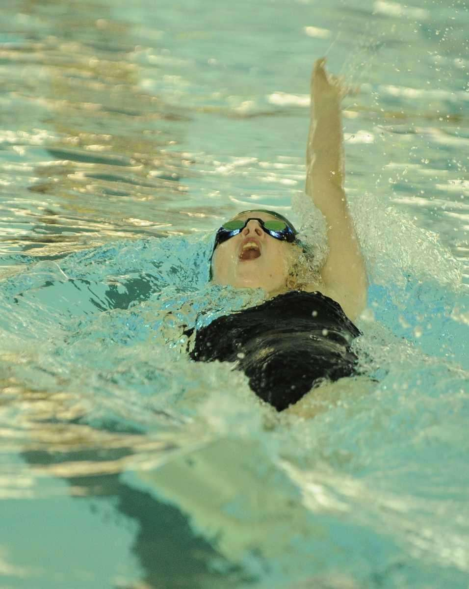 Ward Melville's Colleen Lampe swims the backstroke in