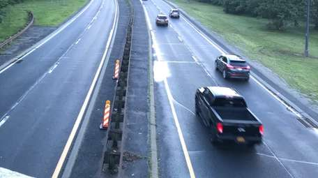 A pickup truck on the Northern State Parkway