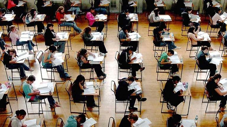 A file photo of school exams in progress.
