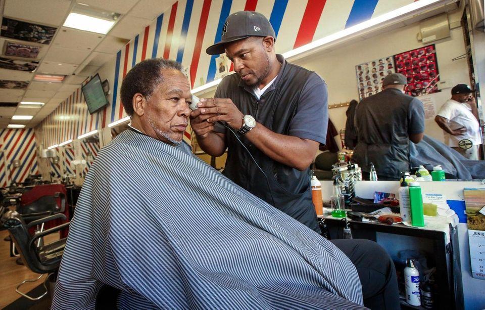 At The Original Barber Shop on Carleton Avenue