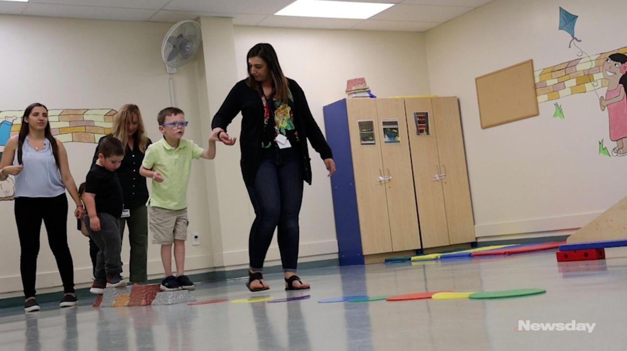 Nesconset's Jack Nordin, 5, who has autism, has