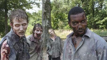 Zombies in a scene from