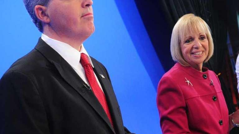 Suffolk County Executive candidates Steve Bellone, left, and