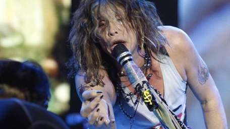 Steven Tyler performs with Aerosmith in Asuncion, Paraguay,