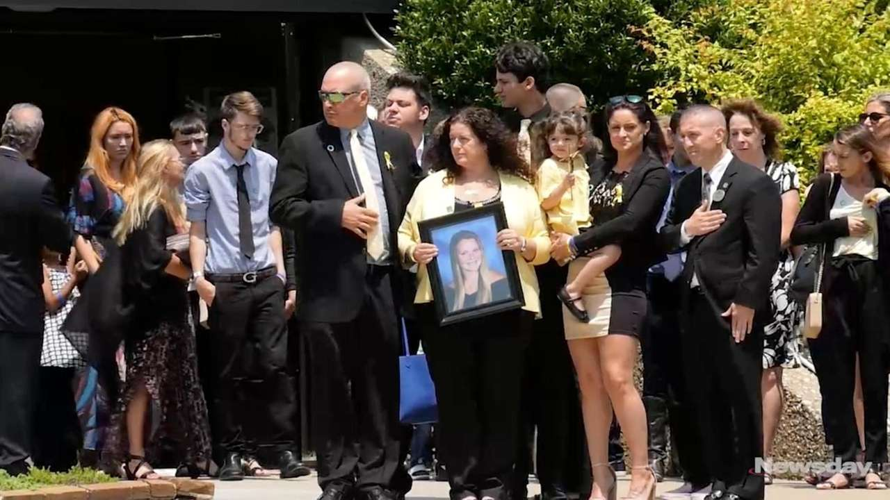 Family, friends and community members attended a funeral