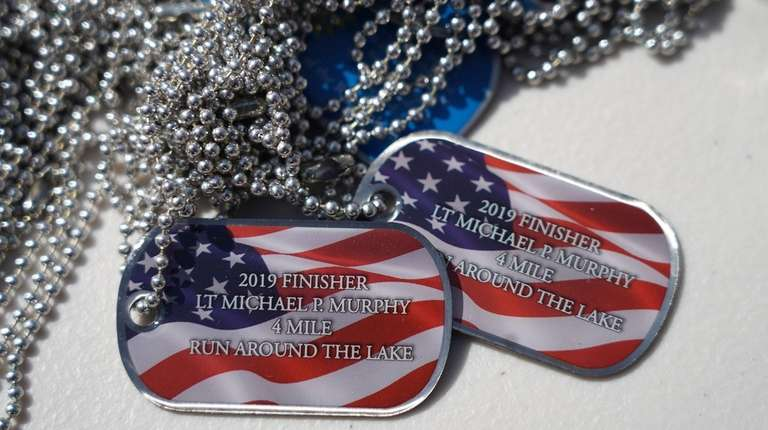 A view of the dog tags given to