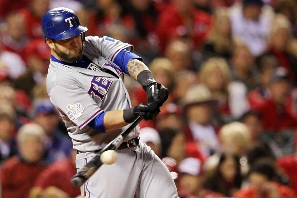 ST LOUIS, MO - OCTOBER 27: Mike Napoli