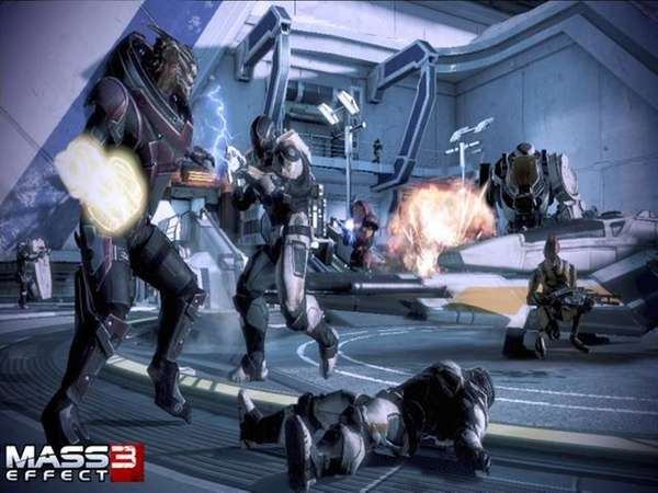 """Gameplay from the multiplayer mode of """"Mass Effect"""