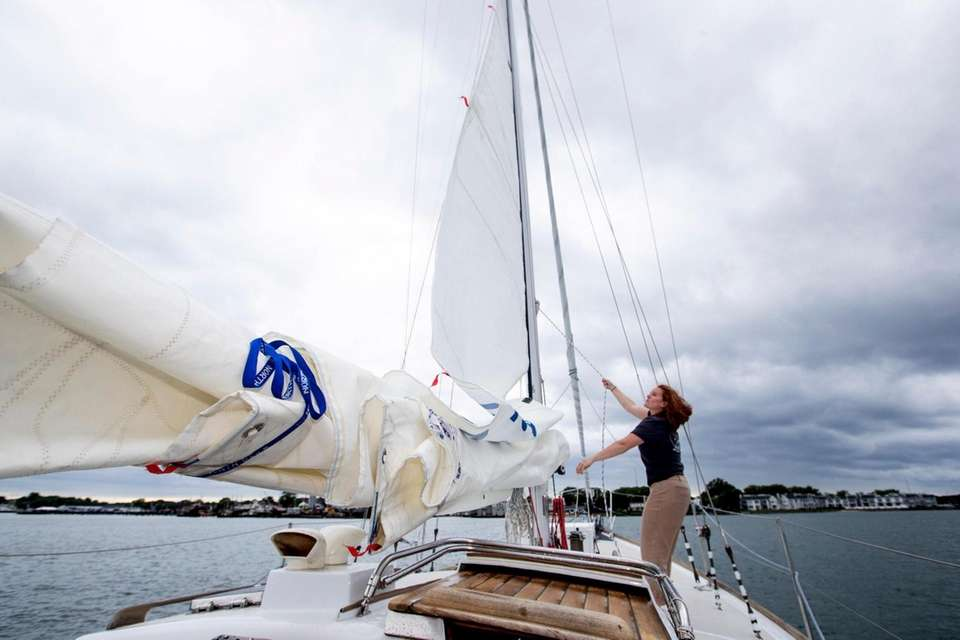 Rachael Bofinger, 26, from Orient and first mate