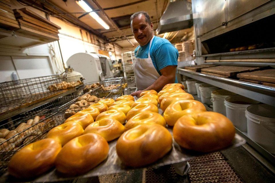 Porfirio Maldonado, baker at Bagel Boss in Hicksville,