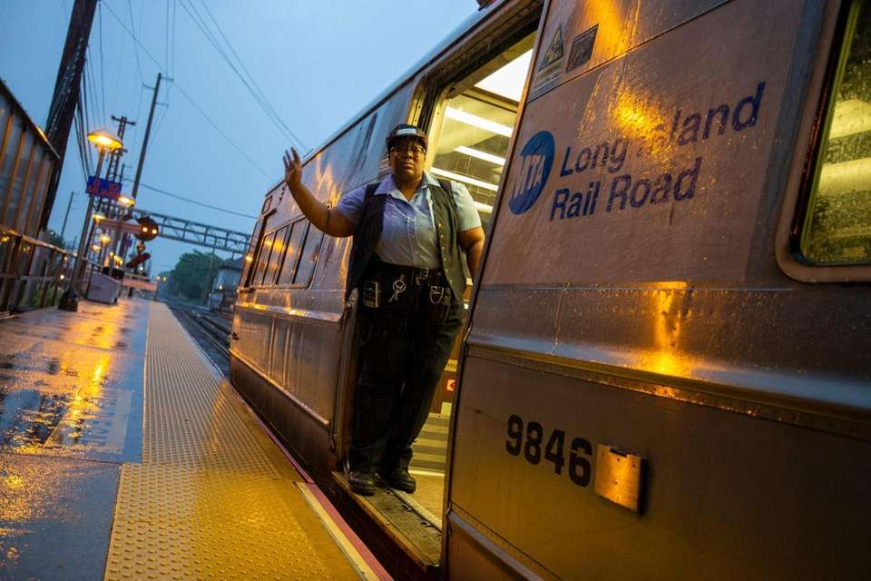 LIRR conductor gives the all clear as early