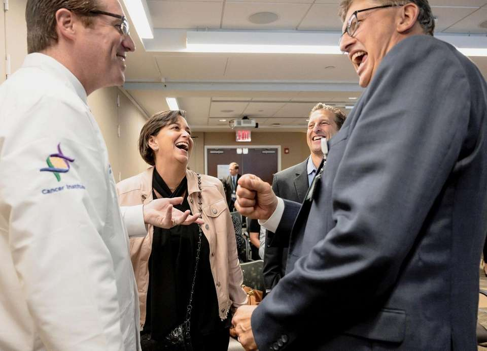 From left, Dr. Matthew Weiss, director of surgical