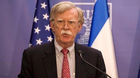 National Security Adviser John Bolton on Sunday in