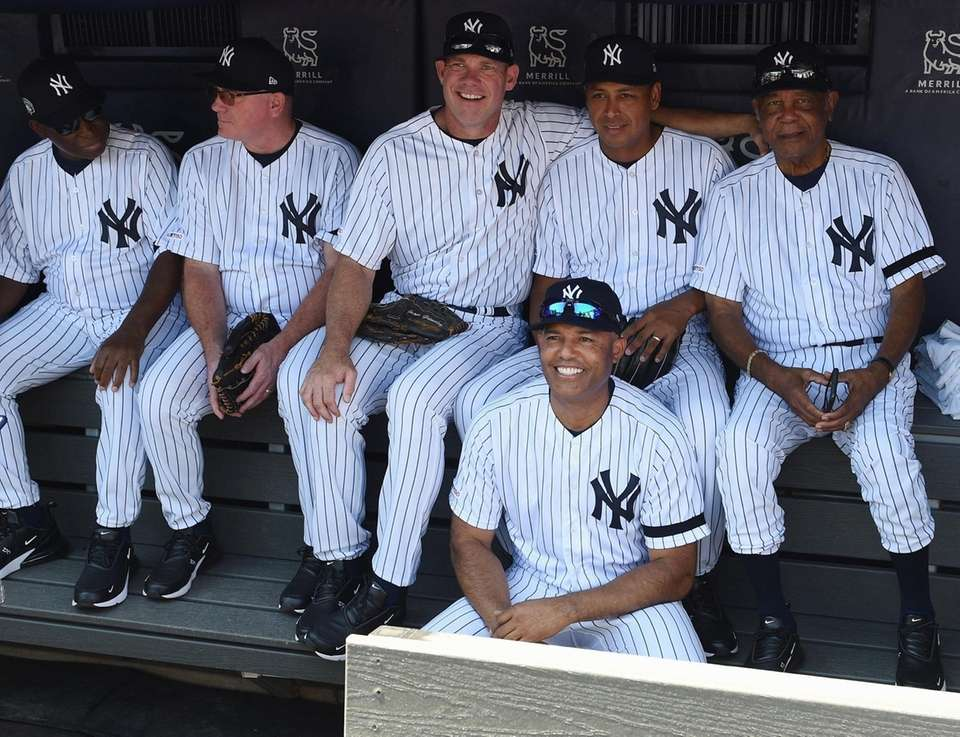 Former Yankees players including pitching ace Marino Rivera,