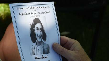 A pamphlet from the Anne Frank Memorial Garden