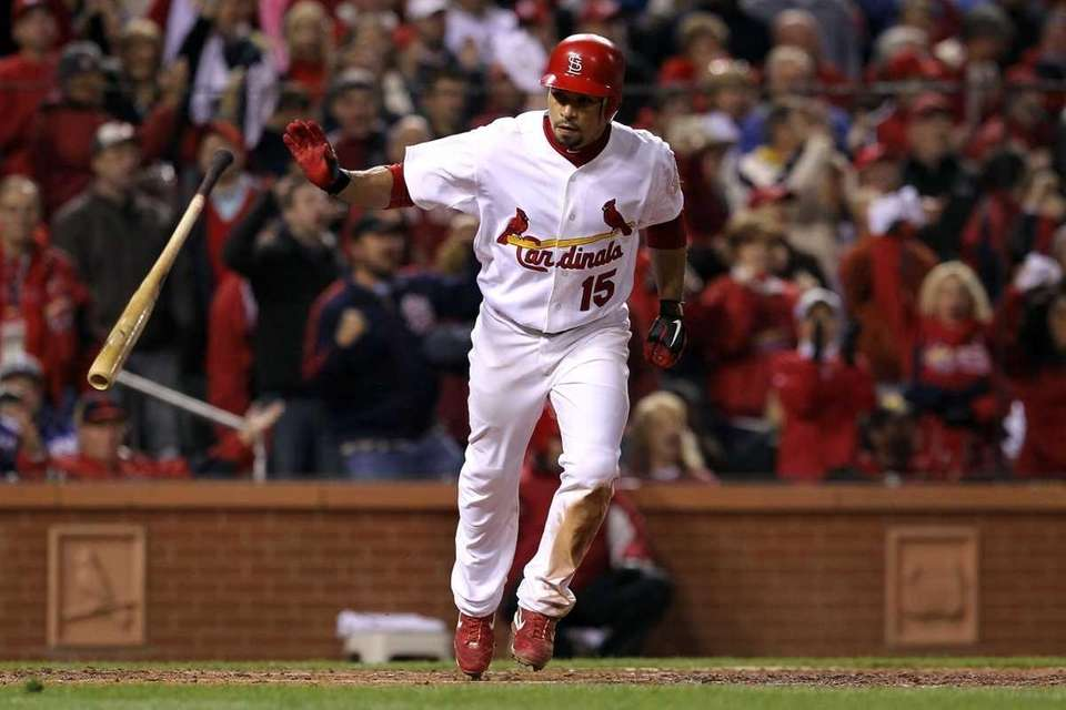 Rafael Furcal is hit by a pitch with
