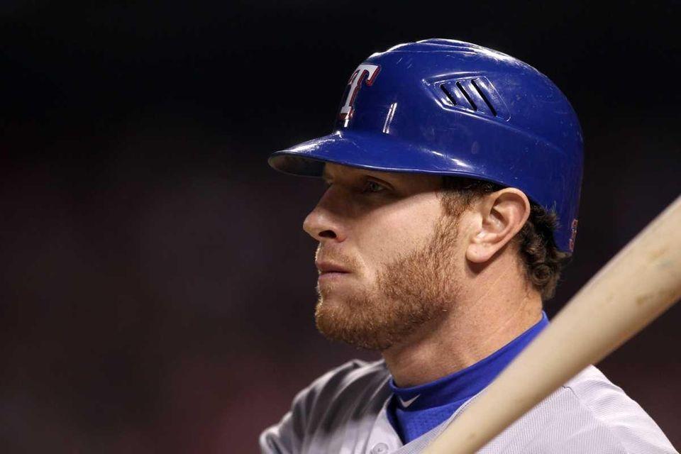 Josh Hamilton of the Texas Rangers bats in