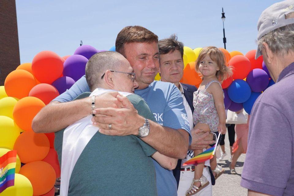 New York LGBT Network CEO/president David Kilmnick, second