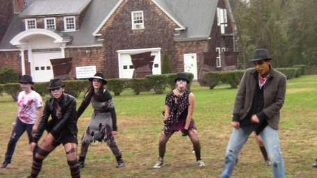 Zombie dancers show off their dance moves choreographed