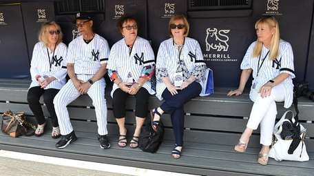 New York Yankees former player Roy White sits