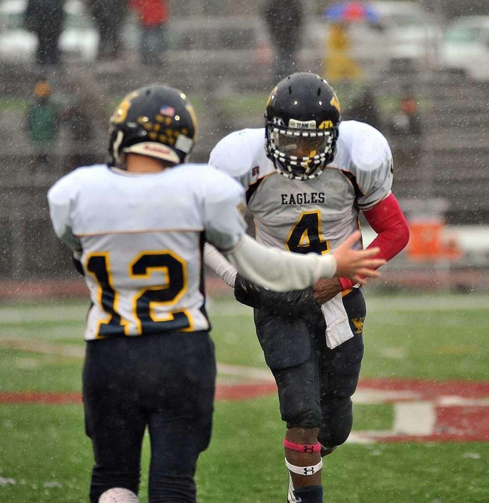 West Babylon's Michael Richardson leaves the game in