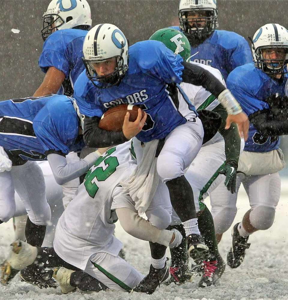 Oceanside takes the ball up the middle against