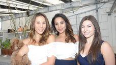 Kristen Drapesa, May Caneso and Andrea DelBene attend