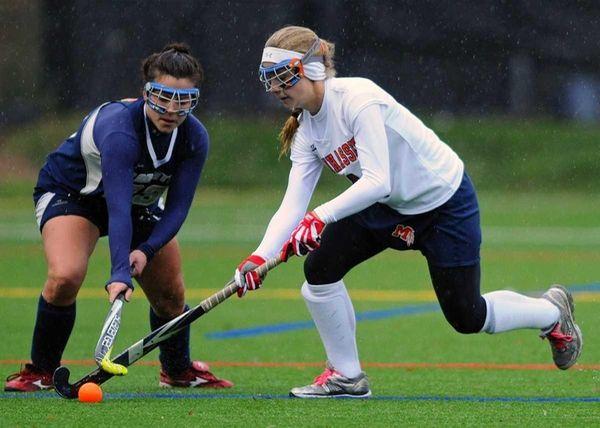 Manhasset High School #4 Madison Molinari, right, gets