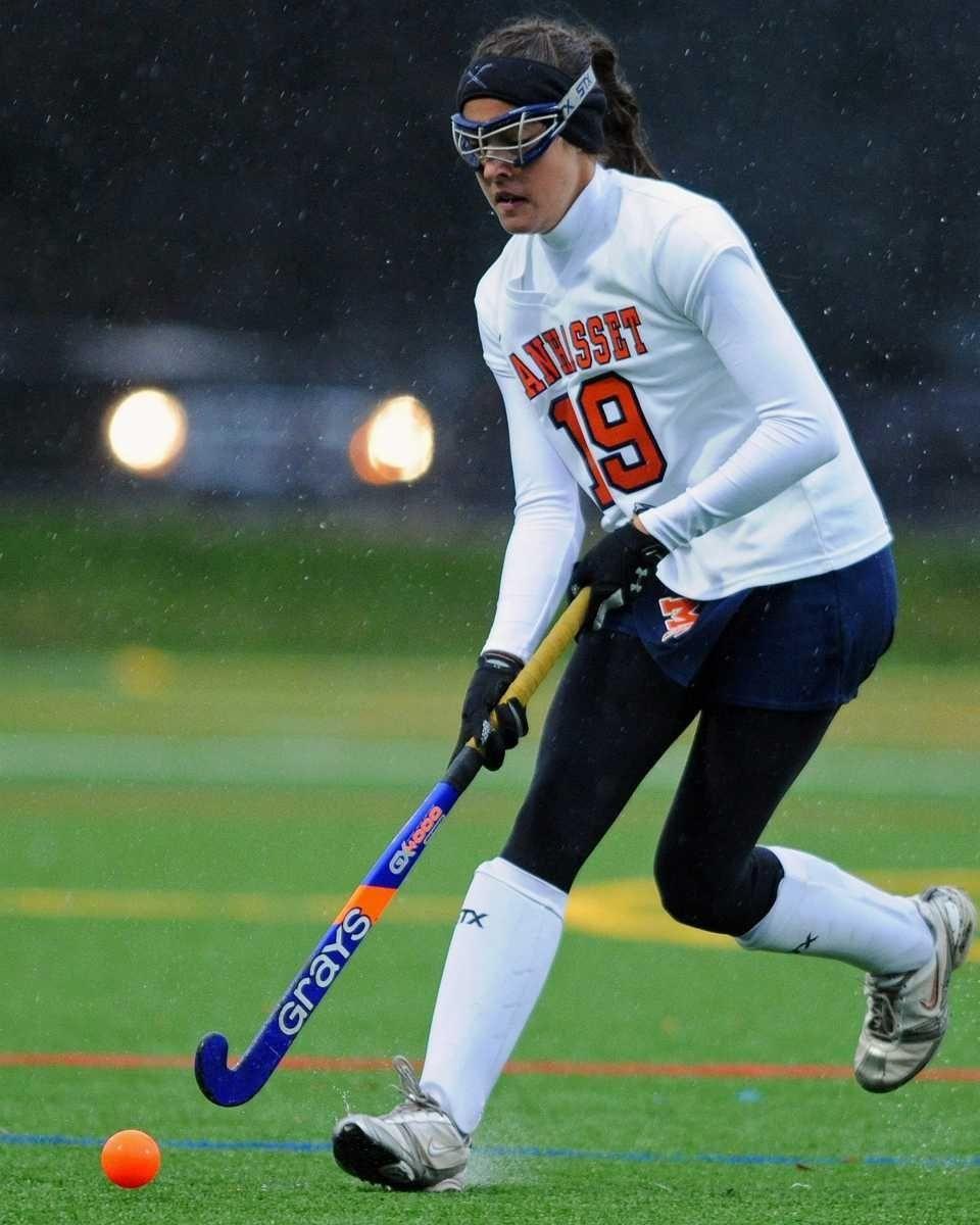 Manhasset High School #19 Emily Koufakis heads downfield