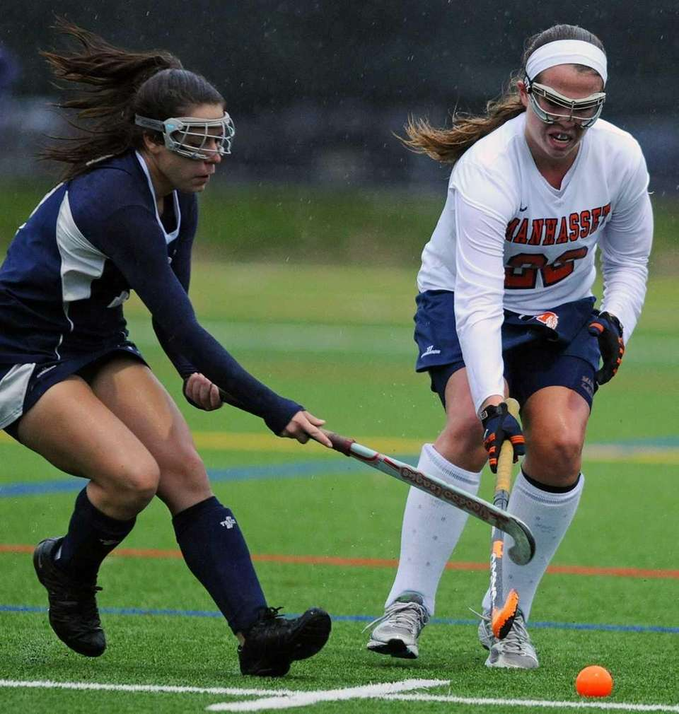 Manhasset High School's Katherine Conway and New Hyde