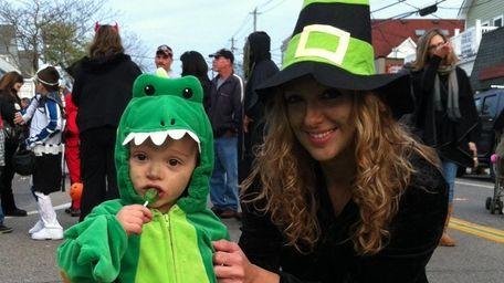 Evon Martinez, of Shirley, and her son, Brendan,