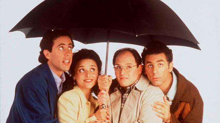 Jerry Seinfeld, left, Julia Louis-Dreyfus, Jason Alexander and