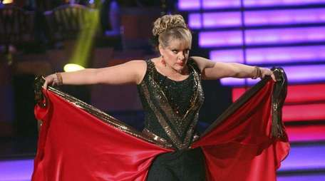 TV personality Nancy Grace performs on the celebrity