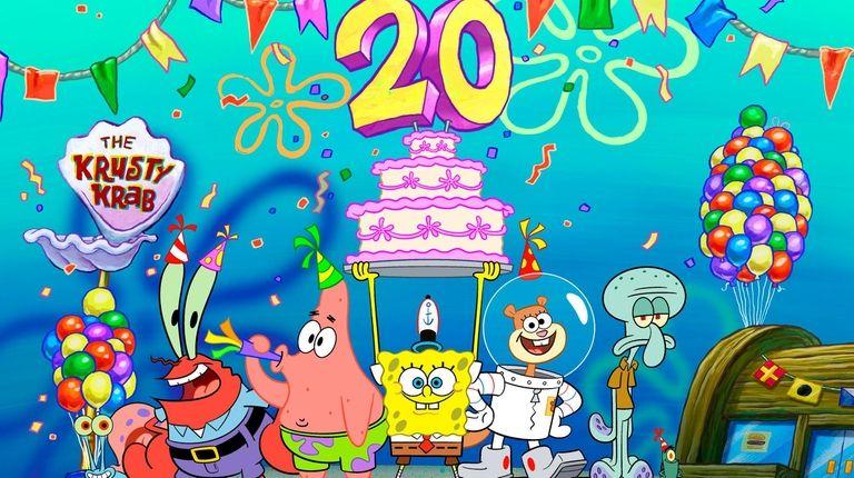 """SpongeBob's Big Birthday Blowout"" airs July 12 on"