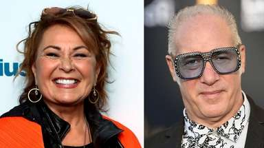 Roseanne Barr and Andrew Dice Clay